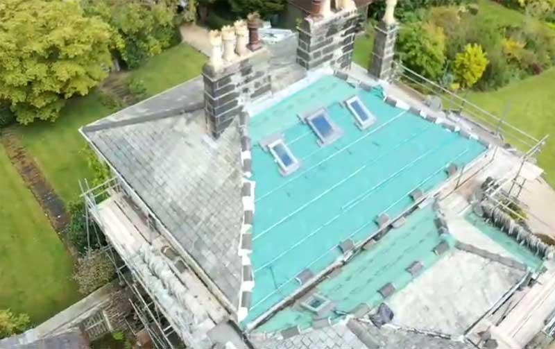 Drone Roof Survey Accrington